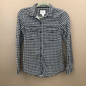 Black and White Checkered Flannel - Small